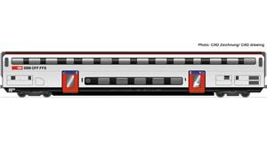H0 Doppelstockwagen 2. Klasse, SBB, Ep.6, DC