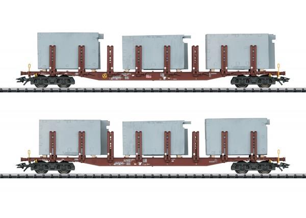 H0 Rungenwagen-Paar/4-a. DBAG +Ladung NH2020