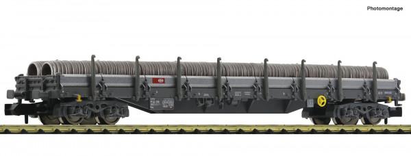 N Rungenwagen/4-achs. Res SBB Ep.VI grau mit Drahtrollen