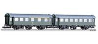 TT D-Zug-Wagen-Paar 1./2.Kl. + 2.Kl. DB Ep.IV