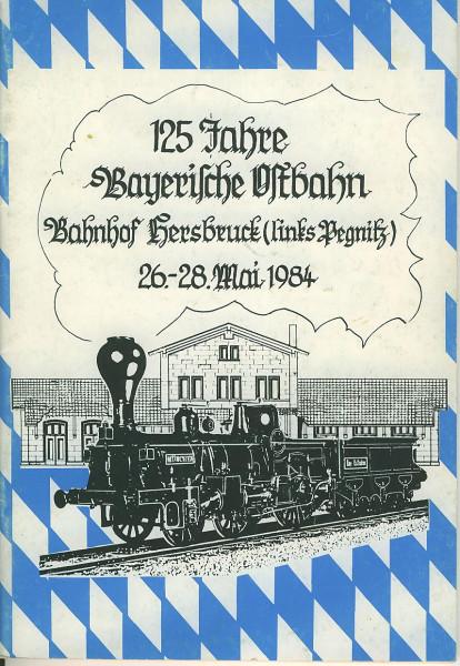 Buch 125 Jahre Bayerische Ostbahn - 1984 Bahnhof Hersbruck (links Pegnitz)