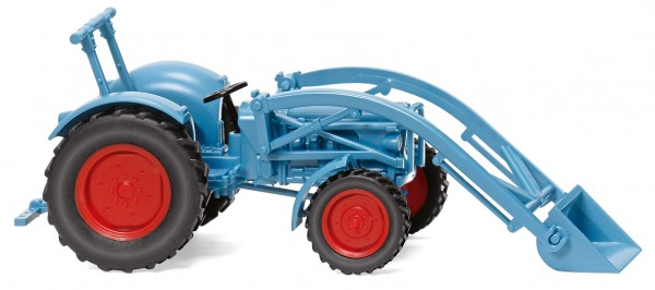 87 Eicher Königstiger +Frontlader, blau FNH02/20