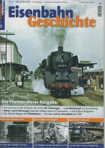 Heft Eisenbahn-Geschichte Nr. 074