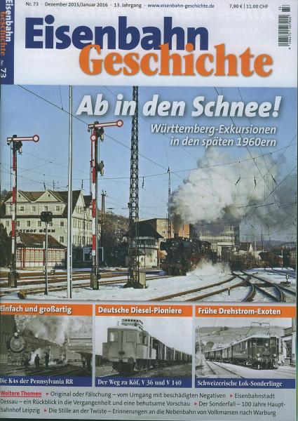Heft Eisenbahn-Geschichte Nr. 073