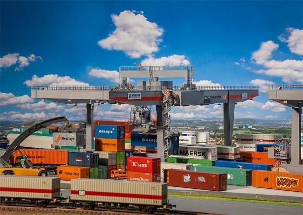 H0 Containerbrücke motorisiert