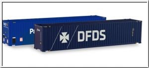 87 Container-Paar 45ft. 'P&O + DFDS' NH05/2020