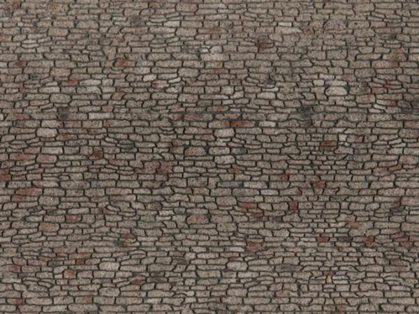 H0 Struktur-Folie 'Bruchsteinmauerwerk'