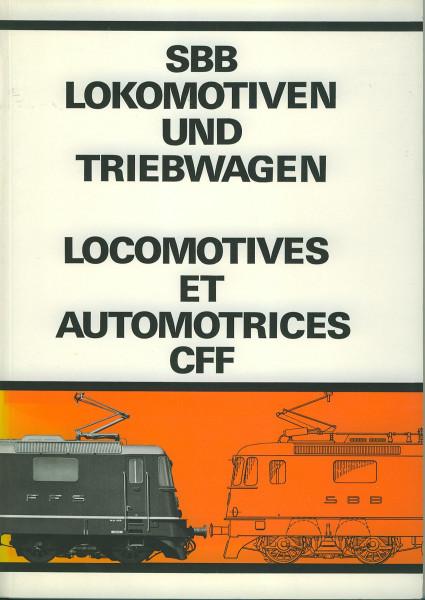 Buch SBB Lokomotiven und Triebwagen - Locomotives et Automotrices CFF