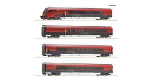 H0 Railjet-Set 4-tlg., ÖBB, Ep.6, DC