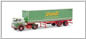 87 Scania Vabis LB76 Container-Sattelzug 'Wandt' NH2020(03)