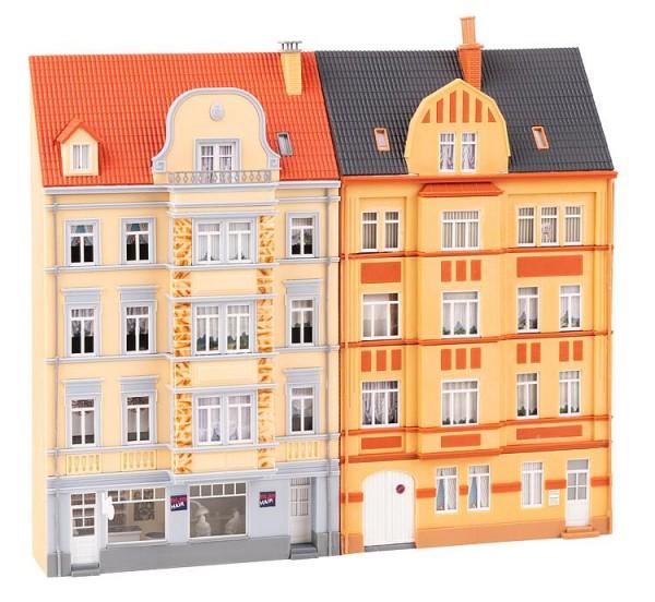 H0 Stadt-Reliefhäuser 4-stöckig