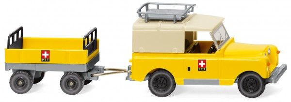 87 Land Rover mit Anhänger 'PTT'(CH) FNH02/20