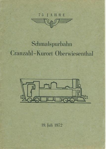 Buch 75 Jahre Schmalspurbahn Cranzahl - Kurort Oberwiesenthal - Festschrift