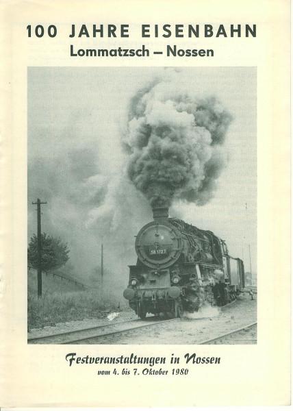 Buch 100 Jahre Eisenbahn Lommatzsch-Nossen