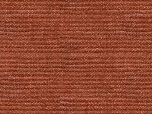 N Kartonplatte-3D 'Klinker' rot NH2020