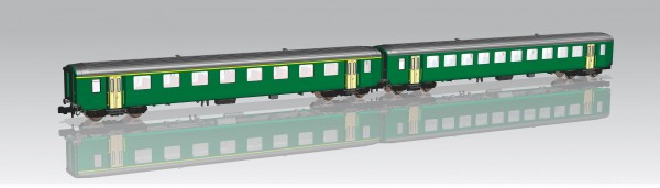 N EW-I-Wagen-Paar SBB-5 1.Klasse+2.Klasse grün NH12/2020