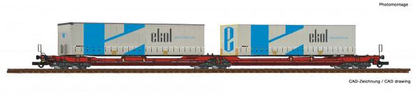 H0 Doppeltaschenwagen T3000e DBAG +Container Ekol