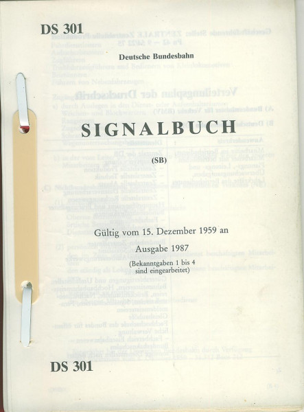 Buch Signalbuch DS301 - Gültig vom 15. Dezember 1959 an