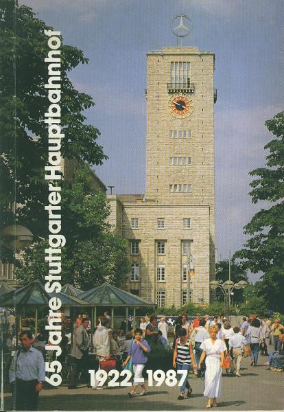 Buch 65 Jahre Stuttgarter Hauptbahnhof 1922-1987