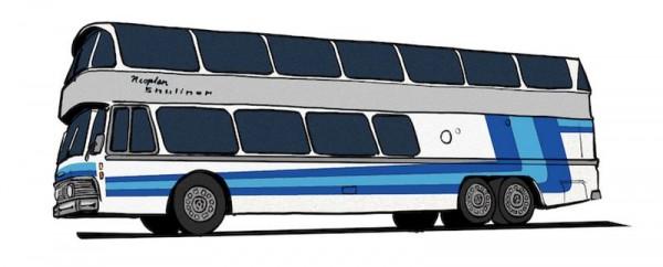 87 Neoplan Skyliner NH 22 DD, silber mit blau/blau von Starline NH2020(I)