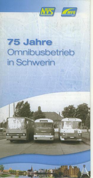 Buch 75 Jahre Omnibusbetrieb in Schwerin