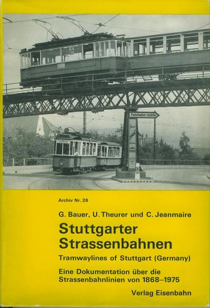 Buch Stuttgarter Straßenbahnen - Dokumentation von 1868-1975