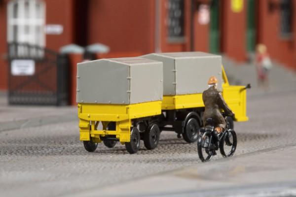 TT Multicar M22 mit Hänger 'Post' gelb