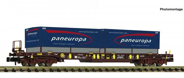 N Taschenwagen/4-achs. T3 AAE + 2*20ft. WP Paneuropa