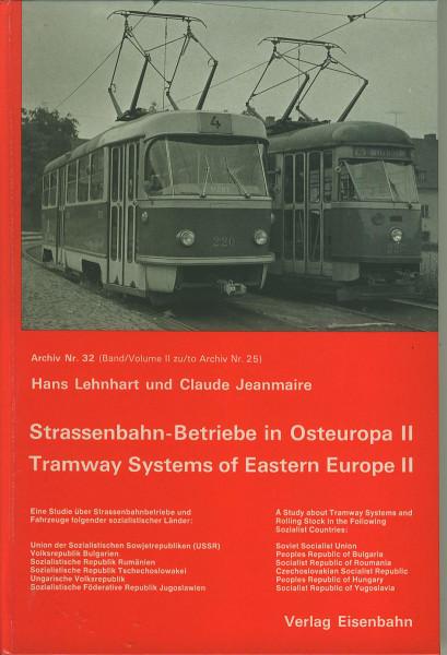 Buch Strassenbahn-Betriebe in Osteuropa II - UDSSR, Bulgarien, Rumänien, Ungarn...