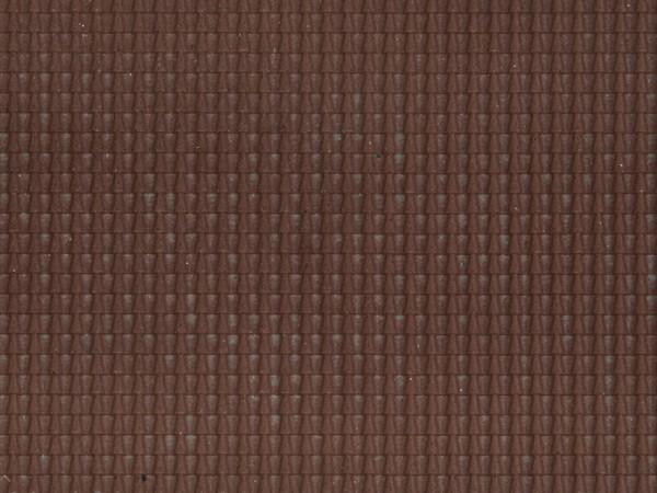 H0 Struktur-Folie 'Dachpfanne'dunkelrot NH2020