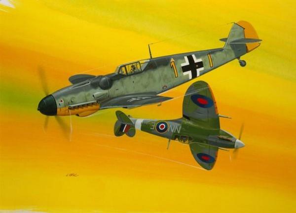 Combat Set Bf109G-10 & Spitfi