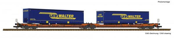 H0 Taschenwagen/6-a. T3000e WASCOSA + 2*AL LKW-Walter