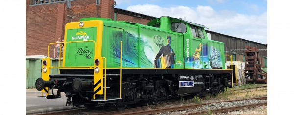 H0 Diesellok 291 Sunrail, V, DC SOUND