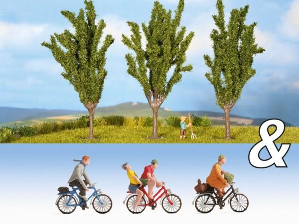 TT Set: Fahrradfahrer + Pappeln NH2020