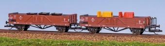 TT Güterwagen-Paar/2-a. LINZ DR-3 mit Ladegut Feldbahn NH2020(III)