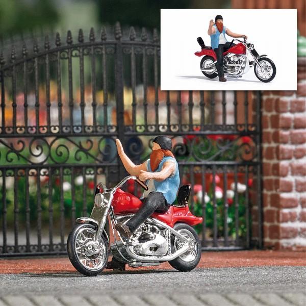 87 US-Motorrad mit Biker