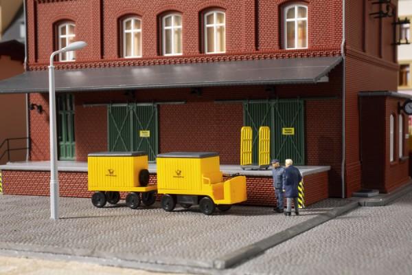 TT Elektrokarren mit Hänger 'Post' gelb NH2020(07)