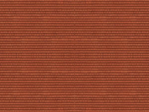 N Kartonplatte-3D 'Dachziegel' rot