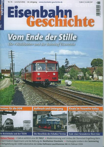 Heft Eisenbahn-Geschichte Nr. 076
