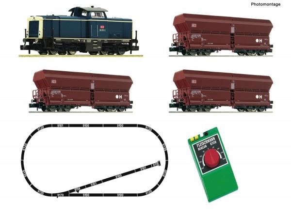 N Analog-Startset: Diesellokomotive BR 212 mit Güterzug DBAG Ep.5
