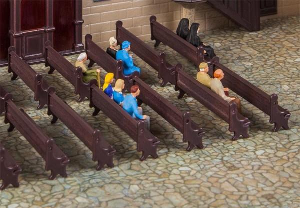 H0 Kirchenbänke 7-Stück
