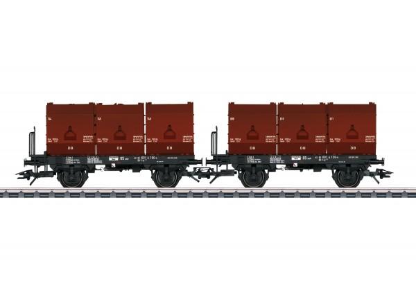 H0 Kokskübelwagen-Paar/2-a. DB-3 3-Kübel NH2020