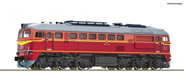 H0 Diesellok BR M62 SZD Ep.4 rot SOUND