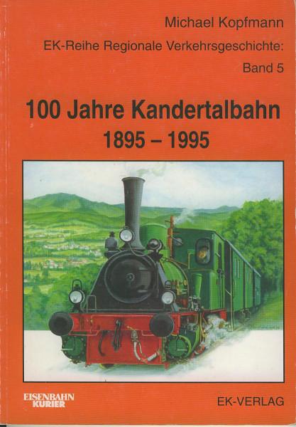 Buch 100 Jahre Kandertalbahn 1895-1995