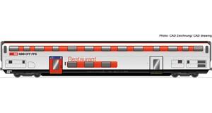 H0 Doppelstock-Restaurantwagen, SBB, Ep.6, DC