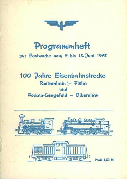 Buch 100 Jahre Eisenbahnstrecke Reitzenhein - Flöha + Pockau-Lengenfeld - Olbernhau