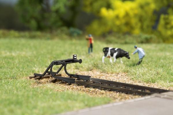 N Prellbock geschwunge Schiene 2-Stück