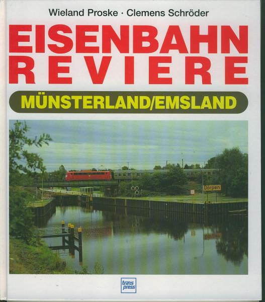 Buch Eisenbahnreviere Münsterland/Emsland - Wiesen, Schlösser, Moorlandschaften