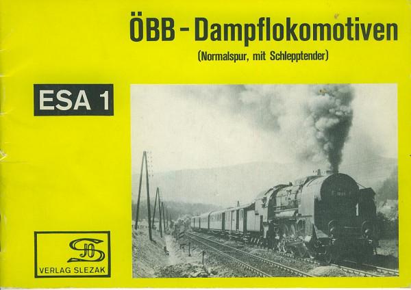 Buch ÖBB-Dampflokomotiven (Normalspur, mit Schlepptender)