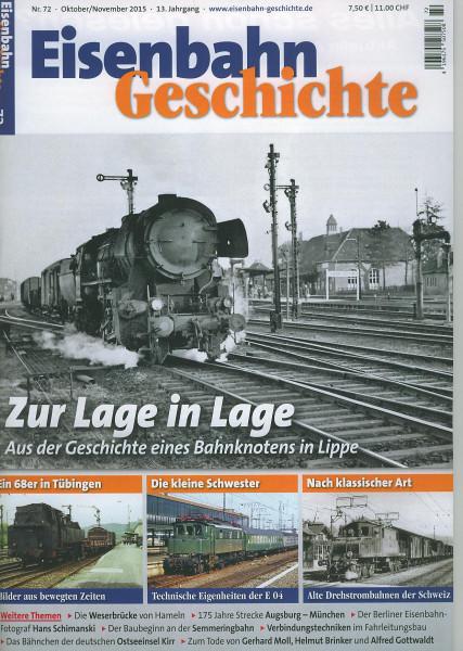 Heft Eisenbahn-Geschichte Nr. 072